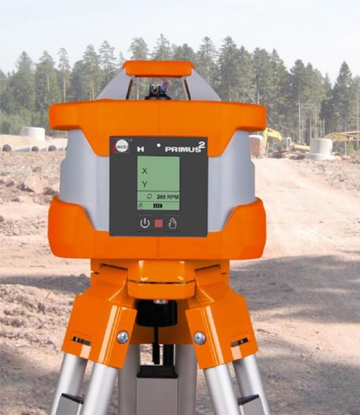 Rotationslaser PRIMUS 2 H / Laserklasse 2 ohne Laserempfänger umrüstbar auf 900 U/min