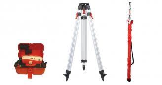 Nestle NAL28 -Nivellierset mit Stativ und 5m-Teleskop-Nivellierl