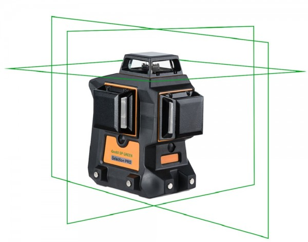 Geo6X SP KIT Green Multi-Linienlaser 3 x 360°-Laserlinie