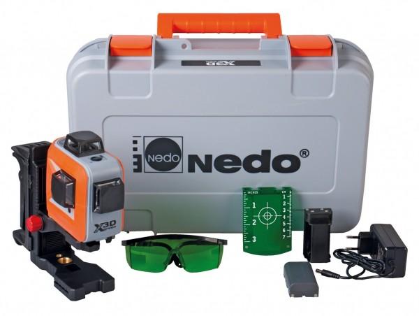 Nedo X-Liner 3D green mit 3 x 360° Laserlinien