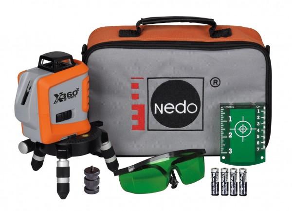 Nedo Linien-Laser X-LINER 360° green