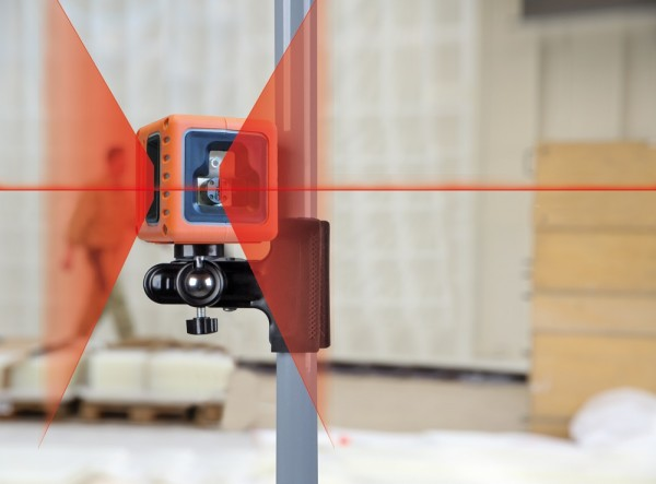 Nedo CUBE mit roten Laserdioden Winkellaser Baulaser Trockenbau Fliesenleger