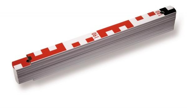 Stabila Holz-Gliedermaßstab Type 1407 GEO, 3 m mit Geo-Skalierung und metrischer Skala