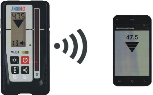 METOR MTR-90RF+RDAB mm-Laserempfänger rot - infrarot mit Fernanz