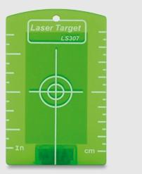 Laserzieltafel mit Magnet für Baulaser mit grünen Strahl