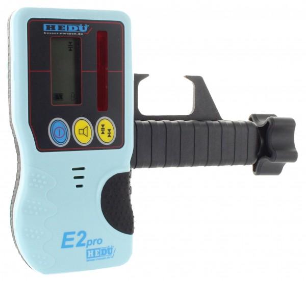 Hedue Handempfänger E2 für Rotationslaser mit roten Laser-Strahl