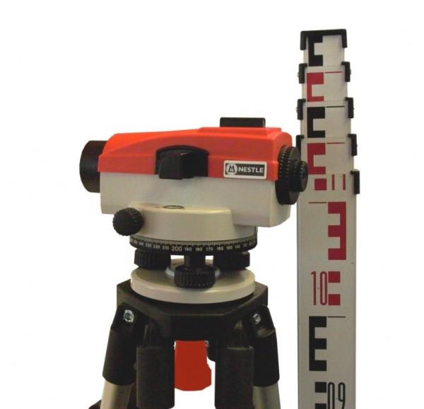 Nestle NAL24 -Nivellierset mit Stativ und 5m-Teleskop-Nivellierl