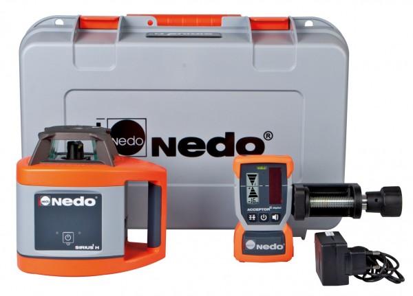 Nedo Rotationslaser SIRIUS 1 H / Laserklasse 3R Inkl. ACCEPTOR digital mit Halteklammer